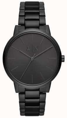 Armani Exchange Cayde mens black pvd plated bracelet AX2701