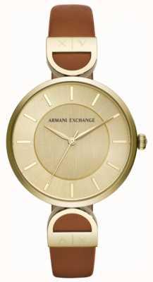 Armani Exchange Рубашка из коричневой кожи Brooke AX5324