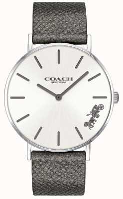 Coach Женские перья серый кожаный ремешок смотреть 14503155