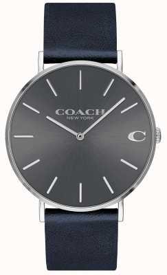Coach Мужские часы темно-синего цвета 14602150