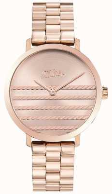 Jean Paul Gaultier Гламурные женские розовые золотые тональные металлические часы JP8505608