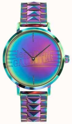 Jean Paul Gaultier Плоские девушки женские фиолетовые радуги эффект металлических часов JP8505706