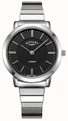 Rotary Женские часы из нержавеющей стали с расширением браслета LB00765/04