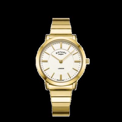 Rotary Женские часы из нержавеющей стали с бриллиантами из нержавеющей стали LB00766/03