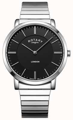 Rotary Мужские часы из нержавеющей стали, расширяющие браслет GB02765/04