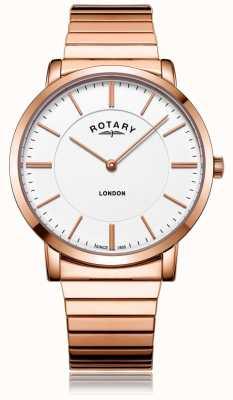 Rotary Мужские часы-браслет из розового золота GB02767/02