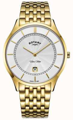 Rotary Ультратонкий мужской позолоченный браслет GB08413/02