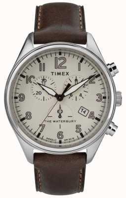 Timex Мужская традиционная коричневая коричневая кожа коричневого цвета TW2R88200