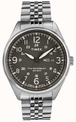 Timex Mens waterbury традиционный день черная сталь TW2R89300
