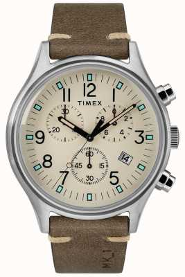 Timex Мужские часы mk1 sst chrono 42 мм коричневый кожаный ремешок TW2R96400