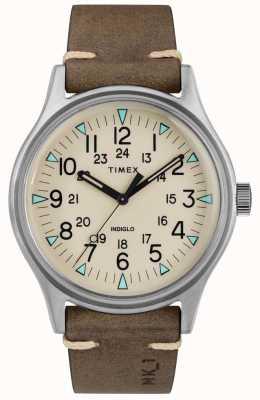 Timex Мужской mk1 sst chrono 40-миллиметровый коричневый кожаный ремешок TW2R96800
