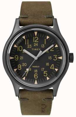 Timex Mens mk1 sst chrono 40mm черный чехол черный циферблат оливковый ремешок TW2R97000