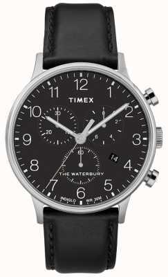 Timex Мужские часы Waterbury Classic с хронографом, черный ремешок TW2R96100D7PF