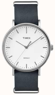 Timex Фейрфилд черный ремешок 3 ручной работы TWF3C8140UK