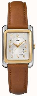 Timex Кожаный ремешок коричневого цвета TW2R89600D7PF