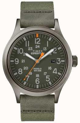 Timex Экспедиционный скаут смотреть зеленый тканевый ремешок TW4B14000D7PF