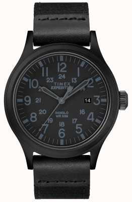 Timex Экспедиционный скаут черный ремень TW4B14200D7PF