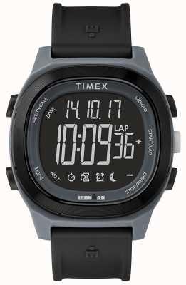 Timex Железный человек - важные черные часы с отрицательным дисплеем TW5M19000SU