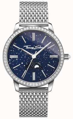 Thomas Sabo Женские часы glam and soul moonphase, серебряный браслет из сетки WA0326-201-209-33