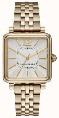 Marc Jacobs Женская вишня часы золотой тон браслет квадратный циферблат MJ3462