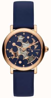 Marc Jacobs Женская марка jacobs классические часы темно-синяя кожа MJ1628