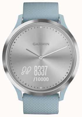 Garmin Vivomove hr активность трекер синий резиновый серебристый циферблат 010-01850-08