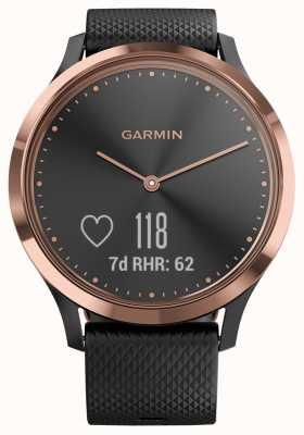Garmin Vivomove hr трекер активности черный каучук розовое золото чехол 010-01850-06