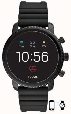 Fossil q gen 4 explorist hr black silicone smart watch FTW4018