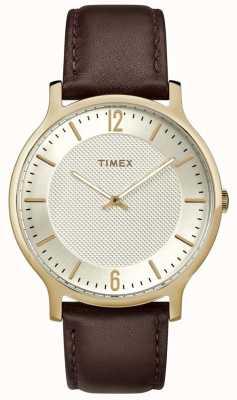 Timex Мужские столичные часы с диагональю 40 мм коричневого цвета TW2R92000
