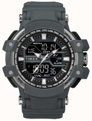 Timex Мужской 50мм темно-серый чехол темно-серый ремешок TW5M22600