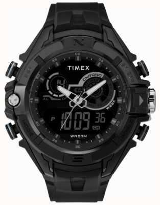 Timex Мужская 47мм черный чехол черное кольцо черный ремешок TW5M23300