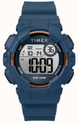 Timex Mako dgtl ™ 44-миллиметровый синий корпус синий ремешок TW5M23500