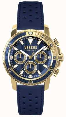 Versus Versace Мужская абердина синяя кожаный ремешок синий циферблат S30020017