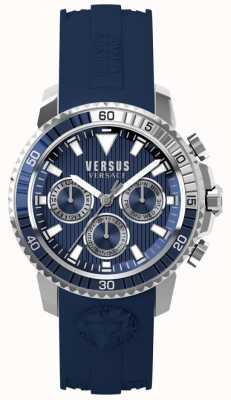 Versus Versace Мужская абердин синий силиконовый ремешок синий циферблат S30040017
