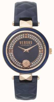 Versus Versace Женская кожаный ремень синего цвета SPCD280017