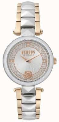 Versus Versace Женские ковент-садовые двухцветные хрустальные часы SPCD250017