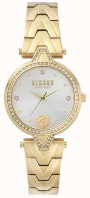 Versus Versace Женские против каменного набора золотой циферблат золотой браслет из ПВХ SPCI350017
