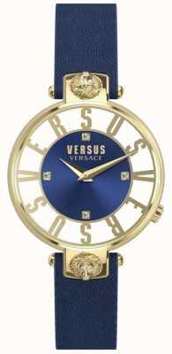 Versus Versace | женская | Кристенхоф | синий циферблат | синий кожаный ремешок | SP49020018