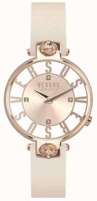 Versus Versace Розовый кожаный ремешок из розового золота с розовым золотом SP49030018