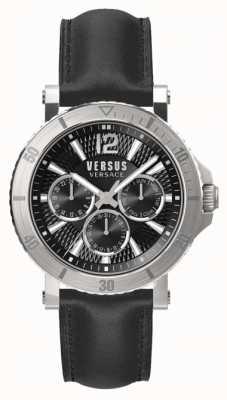 Versus Versace Мужские стинберги черный циферблат черный кожаный ремешок SP52020018