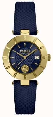 Versus Versace Женский логотип синий циферблат синий кожаный ремешок SP77220018