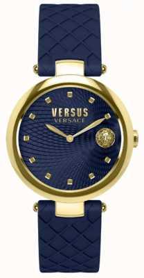 Versus Versace Синий кожаный ремешок для женщин SP87030018