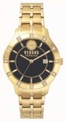 Versus Versace Браслет из черного браслета с бриллиантами SP46030018