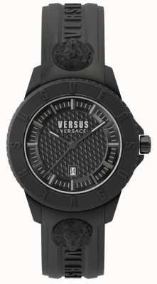 Versus Versace Токийский черный черный силиконовый ремешок SPOY230018