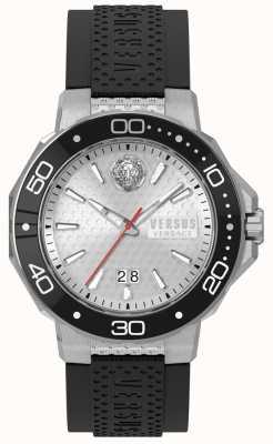 Versus Versace Черный серебряный циферблат черного цвета vSP05010018