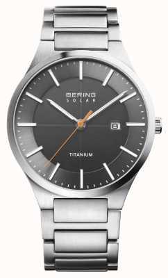 Bering Мужской солнечный серебряный титановый ремешок 15239-779