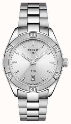 Tissot Женский пр 100 спорт шик 36мм нержавеющая сталь серебро T1019101103100