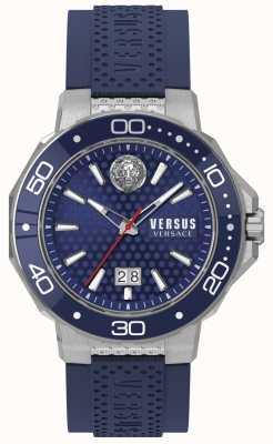 Versus Versace Браслет Mens Kalk Bay из нержавеющей стали синий циферблат VSP05020018