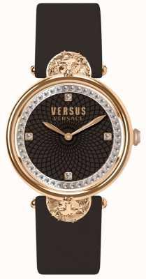 Versus Versace Женская витринная гавань бордовый кожаный ремешок SP33150018