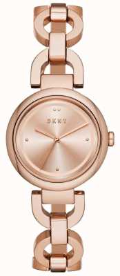 DKNY Женское пасхальное розовое золото с покрытием из ПВХ NY2769